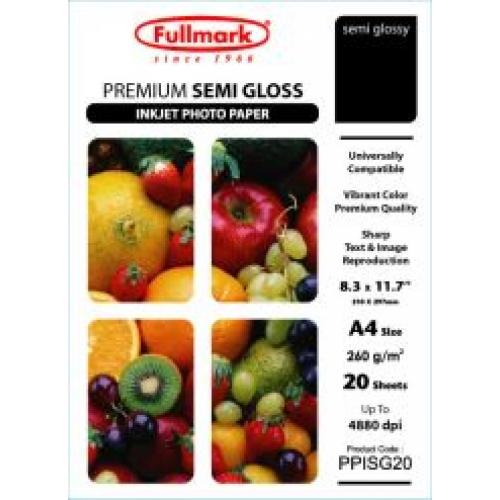 Epson 8 Color Inkjet Print Epson Premium Semigloss Photo: Premium Semi Gloss Inkjet Photo Paper A4
